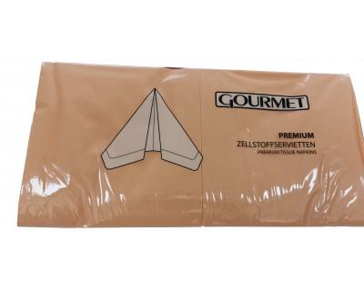 Serviettes en papier 3 plis par 1000 - Abricot