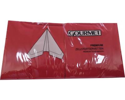 Serviettes en papier 3 plis par 1000 - Rouge